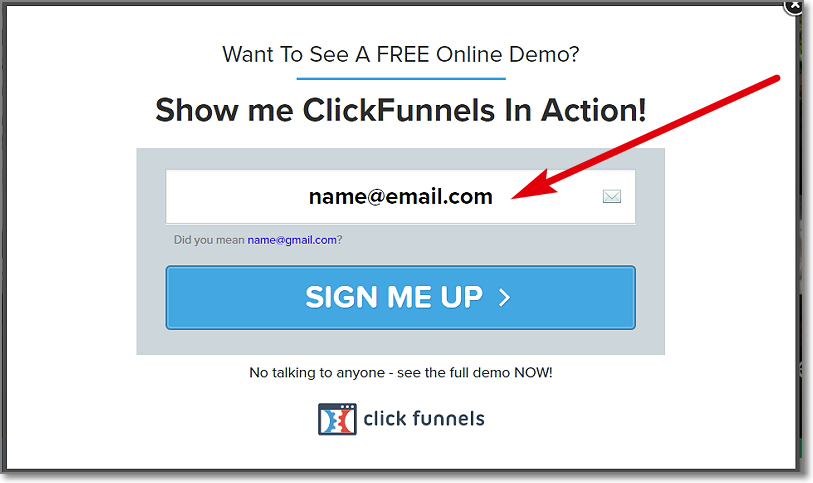 ClickFunnels Demo Registration